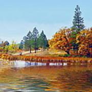 Autumn Lake In The Woods Art Print
