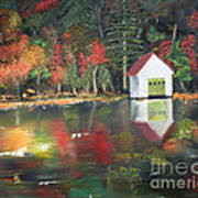 Autumn - Lake - Reflecton Art Print