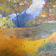 Autumn Leaves Panel1 Of 2 Panels Art Print