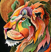 Autumn Lion Art Print