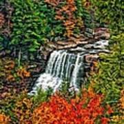 Autumn Magic Paint Art Print