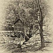 Autumn Mill 2 Antique Art Print