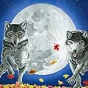 Autumn Moon Art Print