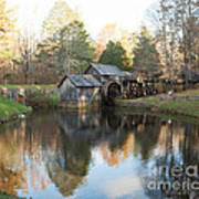 Autumn Morning At Mabry Mill Art Print