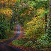 Autumn Mountain Road Art Print by William Schmid