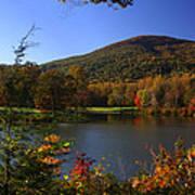 Autumn Mountain View Art Print