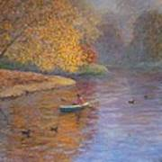 Autumn On Avon Nz. Art Print