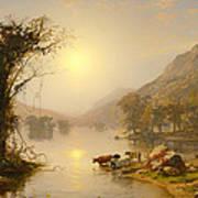 Autumn On Greenwood Lake Art Print