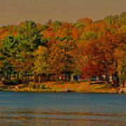 Autumn On Mt Noris Lake Art Print by Victoria Sheldon