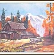Autumn On The Farm. Art Print