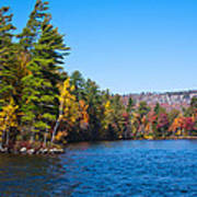 Autumn On The Fulton Chain Of Lakes In The Adirondacks IIi Art Print