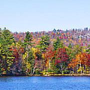 Autumn On The Fulton Chain Of Lakes In The Adirondacks Iv Art Print