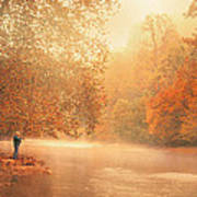 Autumn On The River Art Print by Dorothy Walker