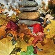 Autumn On The Rocks 2 Art Print