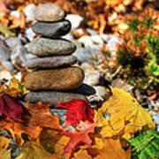 Autumn On The Rocks Art Print