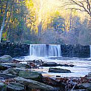 Autumn On The Wissahickon Waterfall Art Print