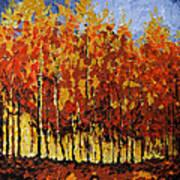 Autumn Palette Art Print by Vickie Warner