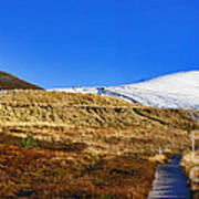 Autumn Panorama In Cairngorms National Park With Cairn Gorm Scotland Art Print