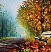 Autumn Park - Palette Knife Oil Painting On Canvas By Leonid Afremov Art Print
