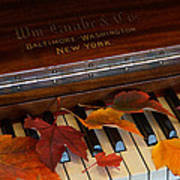 Autumn Piano 1 Art Print