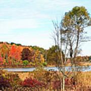 Mendon Ponds In Autumn Art Print
