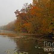 Long Lake In Autumn Art Print