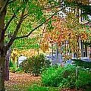 Autumn Porch Art Print