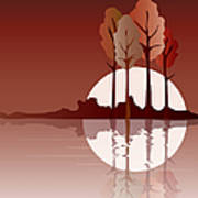 Autumn Reflected Art Print by Jane Rix