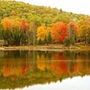 Autumn Reflection Panoramic View Art Print
