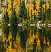 Autumn Reflections At Bear Lake Art Print