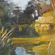 Autumn Reflections Stowe Lake Art Print