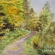 Autumn Riverside Walk Version1 Art Print
