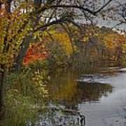 Autumn Scene Of The Flat River Art Print