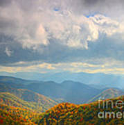 Autumn Storm Over The Great Smoky Mountains National Park Art Print