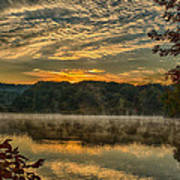 Autumn Sunrise At The Lake Art Print