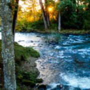 Autumn Sunset On Crabtree Creek Art Print