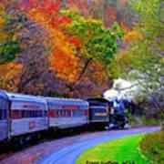 Autumn Train Art Print