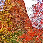 Autumn View Along Zion Canyon Scenic Drive In Zion National Park-utah Art Print