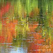 Autumn Water Colors Art Print