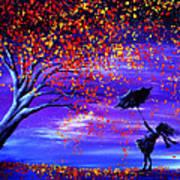 Autumn Wind Art Print by Ann Marie Bone
