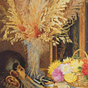 Autumnal Still Life Print by Marian Emma Chase