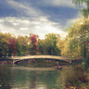 Autumn's Afternoon In Central Park Art Print