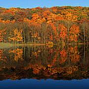 Autumns Colorful Reflection Art Print