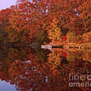 Autumn's Reflection Art Print