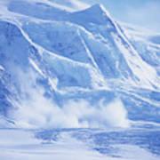 Avalanche At A Distance Art Print