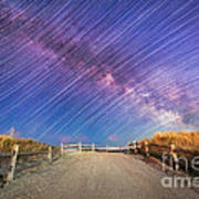 Avalon Star Trails  Art Print