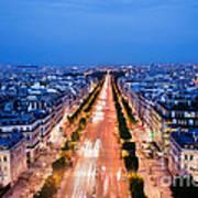 Avenue Des Champs Elysees In Paris Art Print