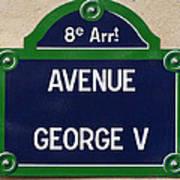 Avenue George Le Cinq  Art Print