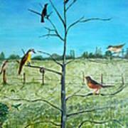 Aves En Comarca Del Sol Art Print