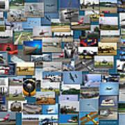 Aviation Collage Art Print